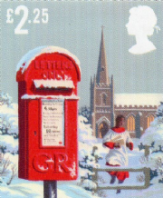 £2.25 Discount Christmas Postage Stamp (two different designs) 12% off